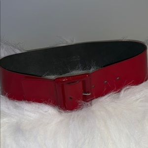 EXPRESS HIGH WAISTED RED LEATHER BELT